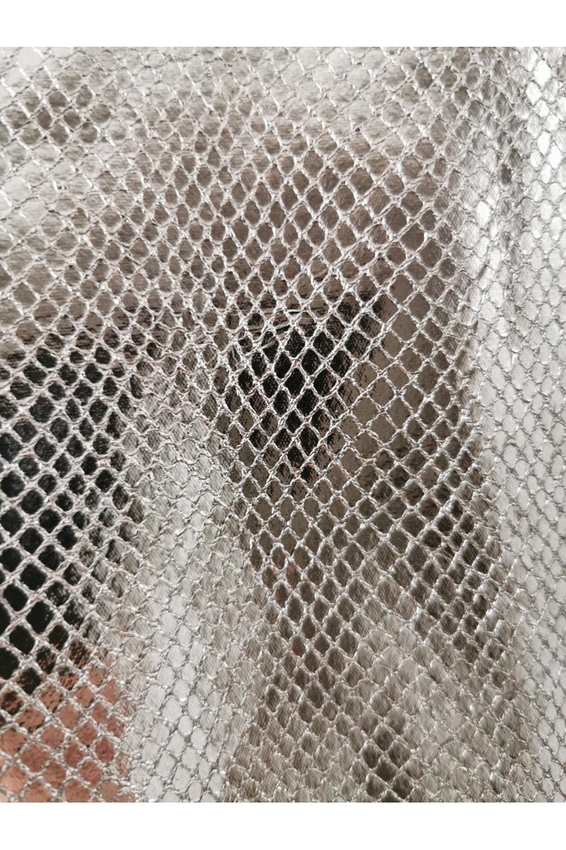 DARK SILVER ANIMAL PRINT WIDE LEG TROUSERS