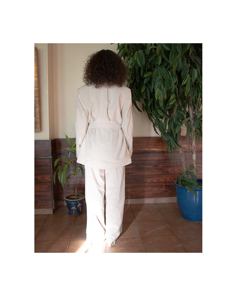 Layered Suit Blazer - Beige