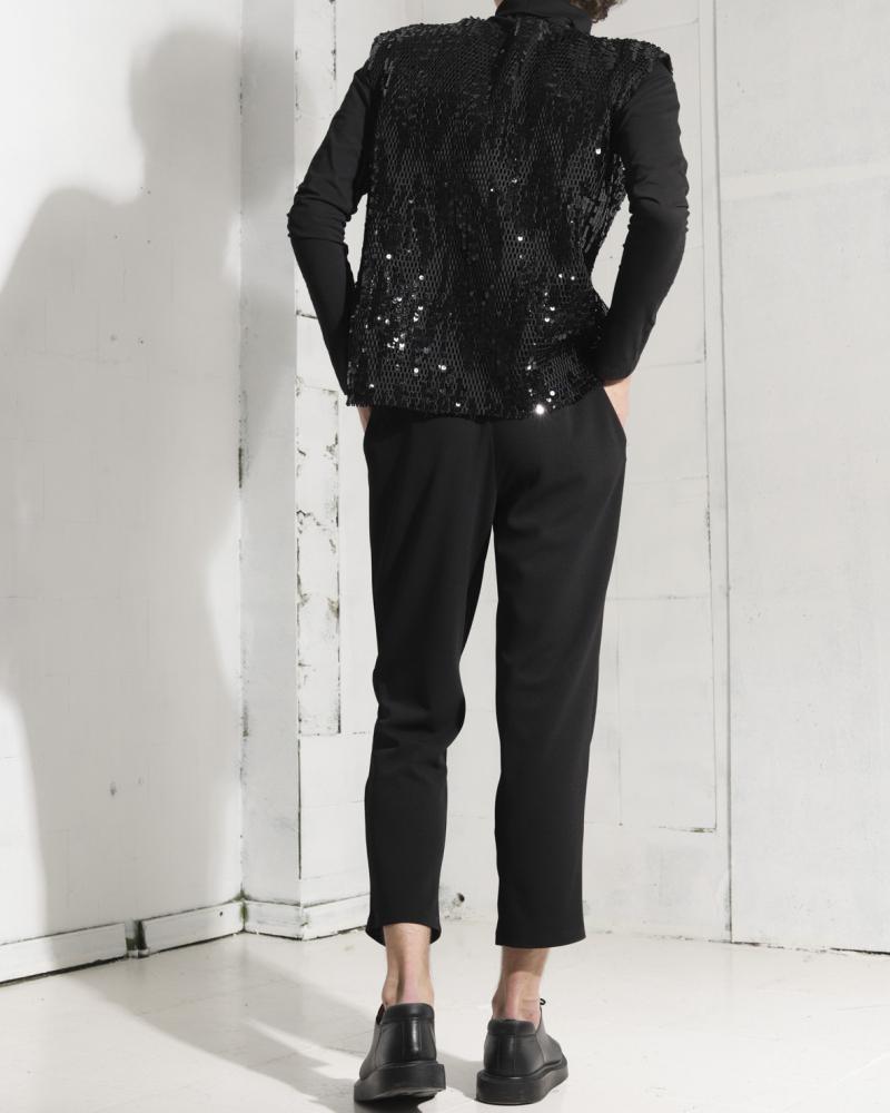 Unisex sequin blouse