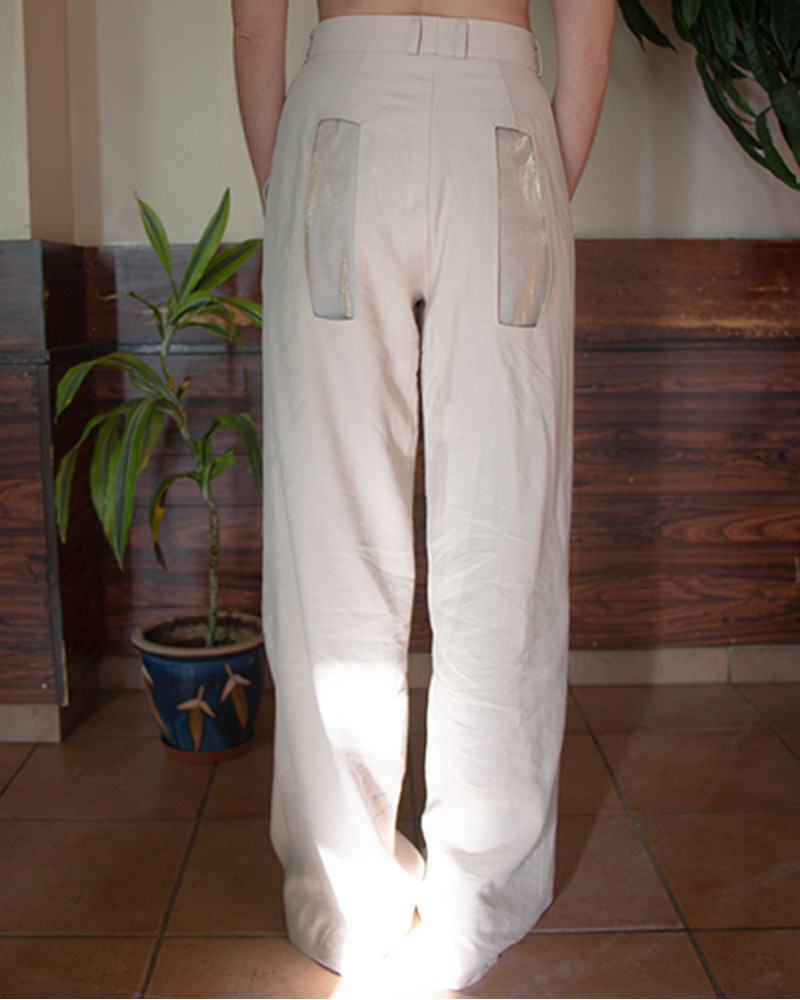 Layered Suit Trousers - Beige
