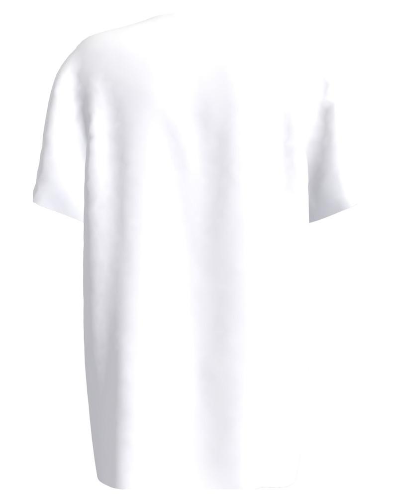Painted print t-shirt white unisex