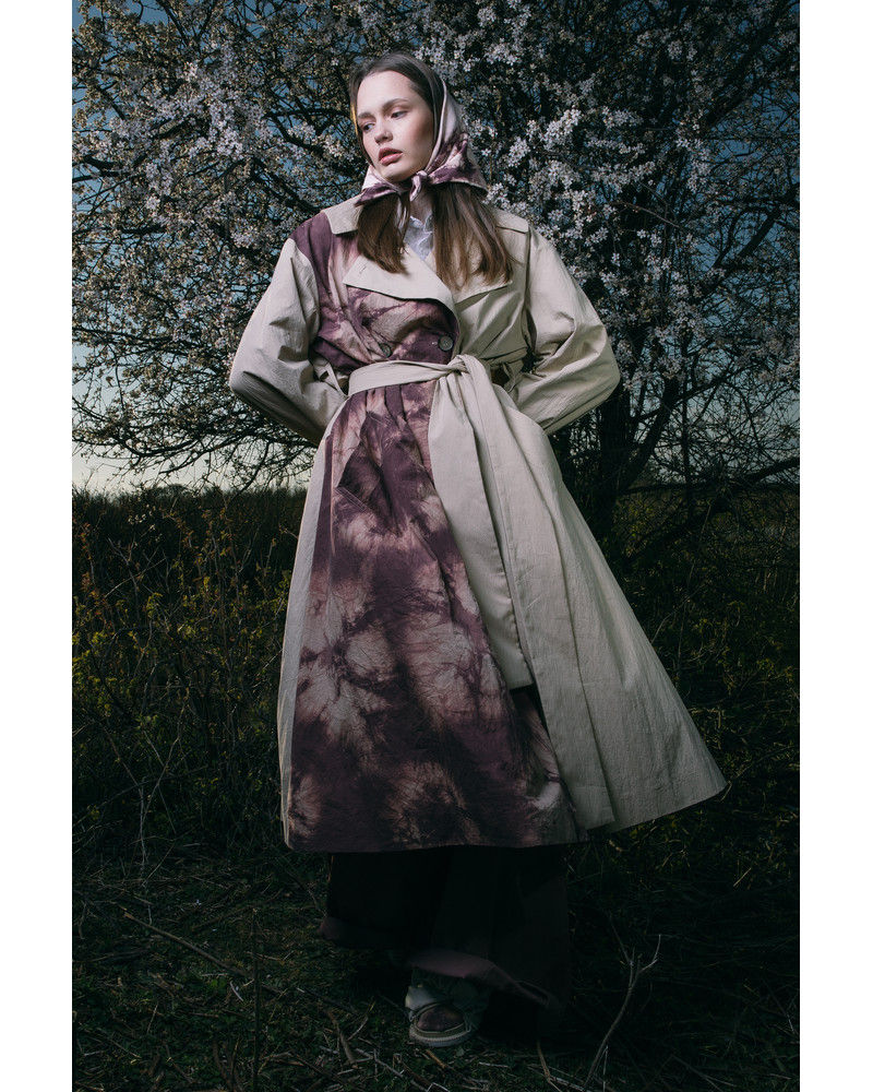HAND DYED TRENCH COAT ''ÕLIKUUB''