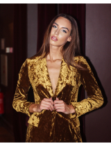 MUSTARD GOLDEN VELVET JACKET
