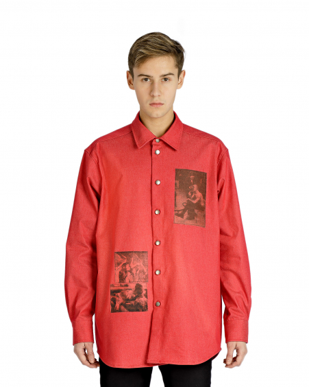 RED OVERSHIRT