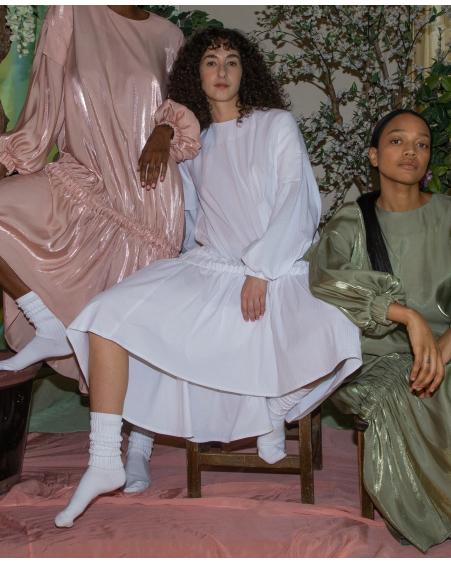 BALLOON DRESS - WHITE