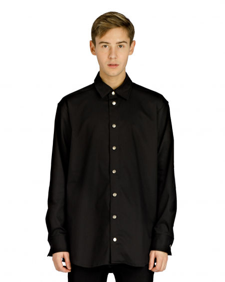 BLACK OVERSHIRT